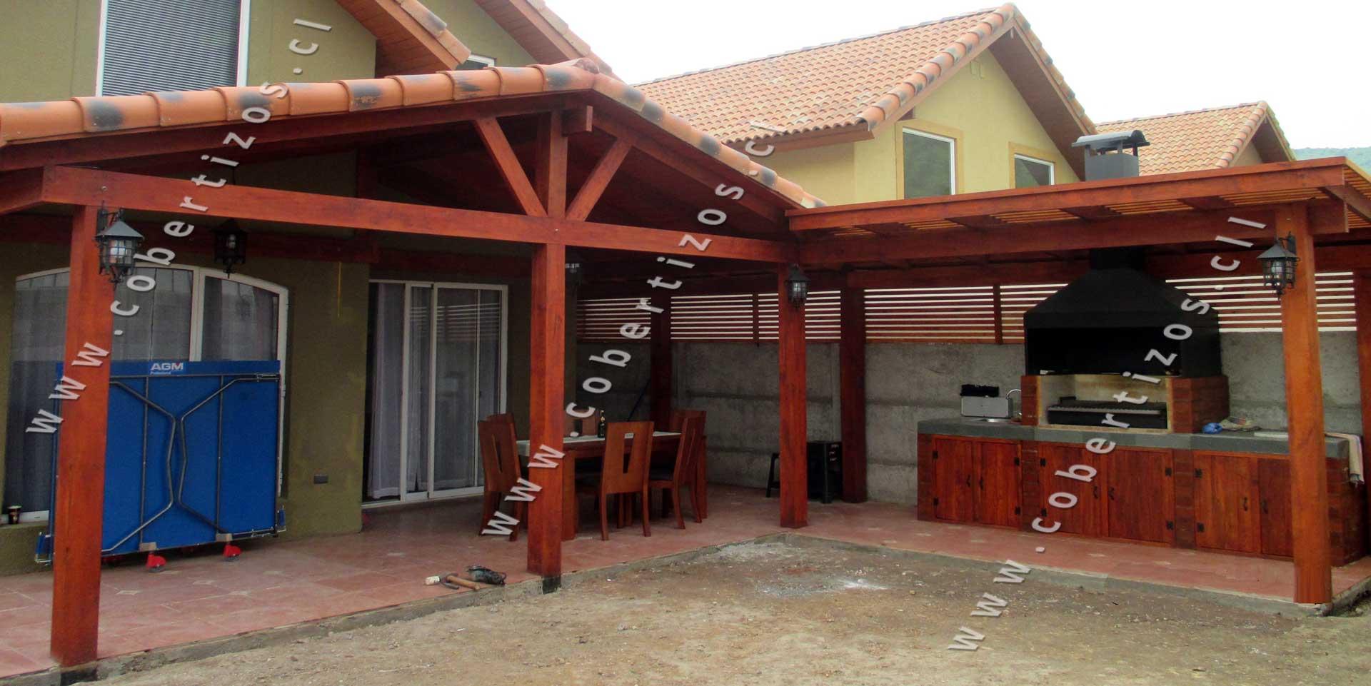 Cobertizos de madera construccion cobertizos de madera for Cobertizos para terrazas
