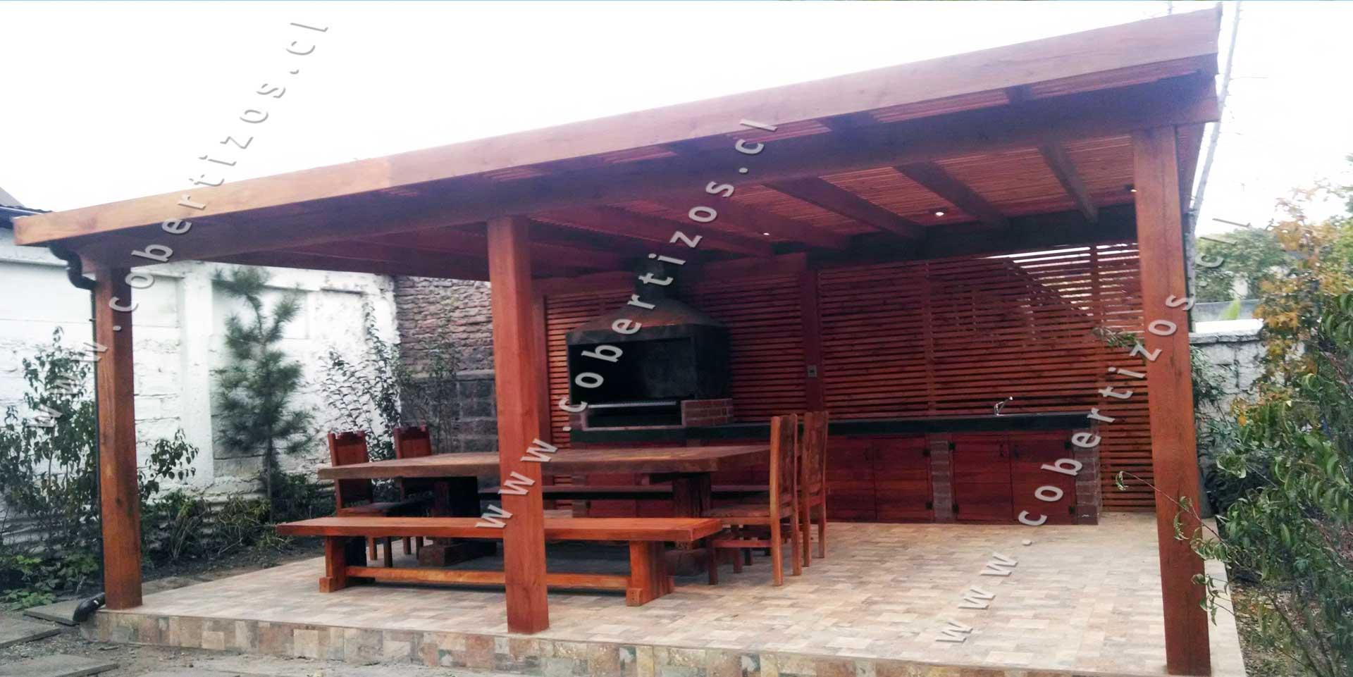 Pergolas de madera techos de terrazas pergolas itamar - Construccion de pergolas de madera ...
