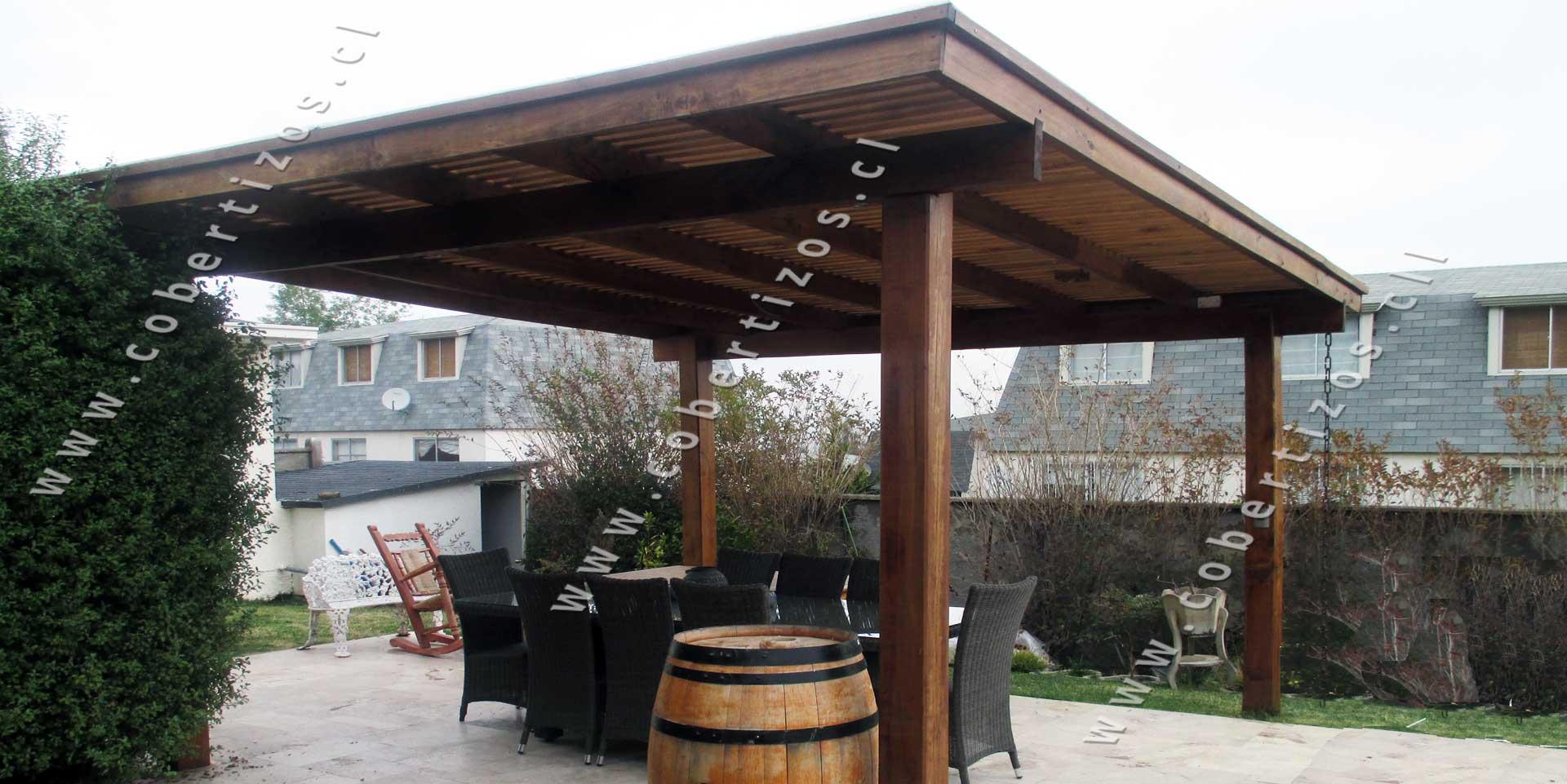 Pergolas de madera techos de terrazas pergolas itamar - Pergolas de madera en kit ...