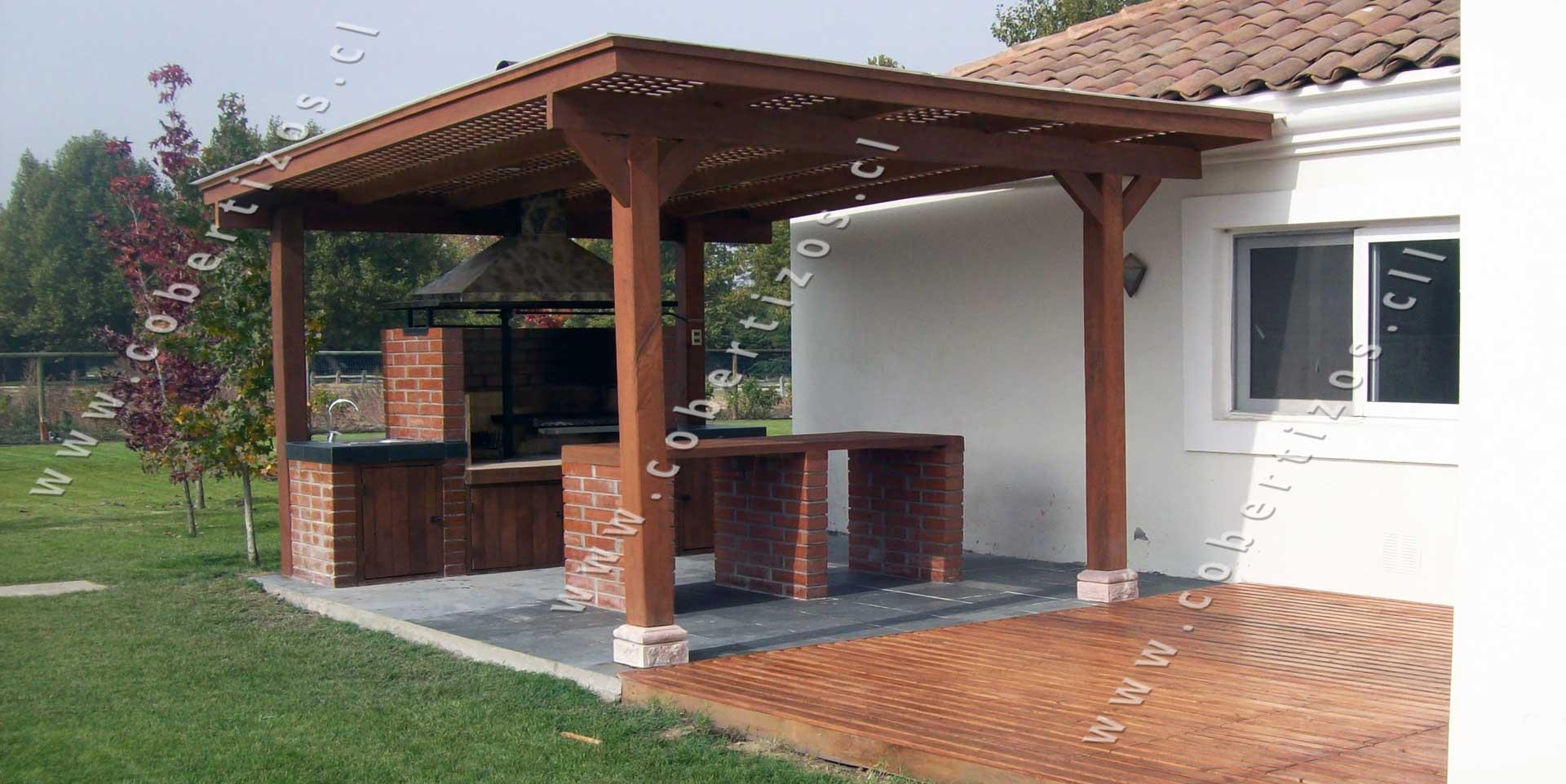 Pergolas de madera techos de terrazas pergolas itamar - Techos pergolas ...